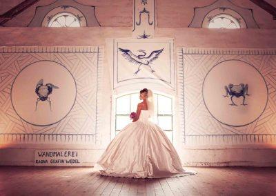 Hochzeit Gut Pronstorf - Braut ©D u.T
