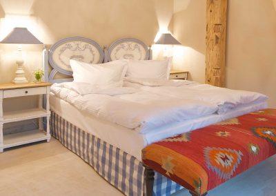 Kornblumenstube Hotel Pronstorfer Torhaus - Doppelbett ©Sonja Bannick