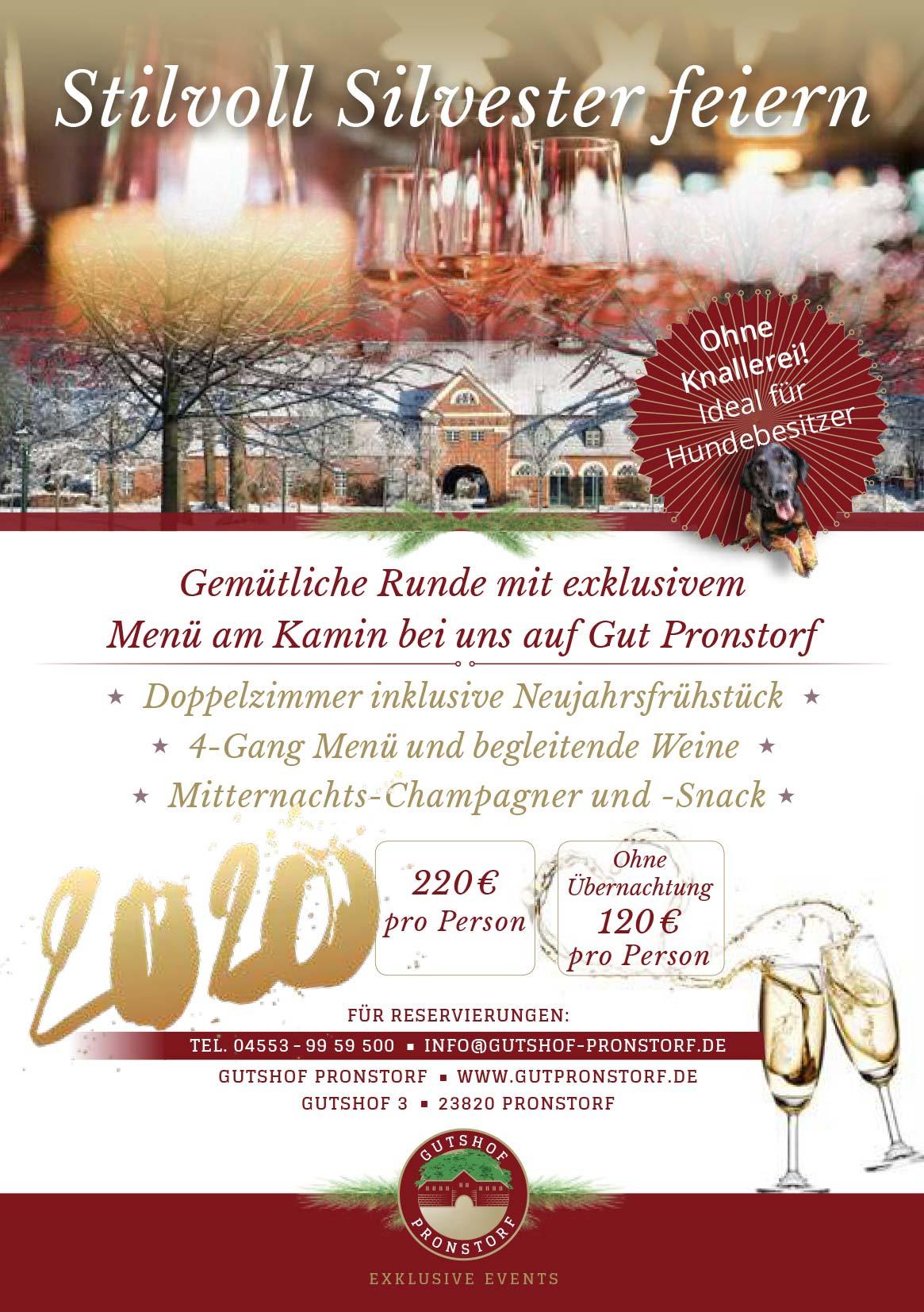 Weihnachtsmenü Gut Pronstorf 2019