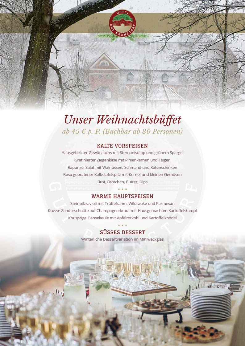 Weihnachtsbuefett Gut Pronstorf 2019
