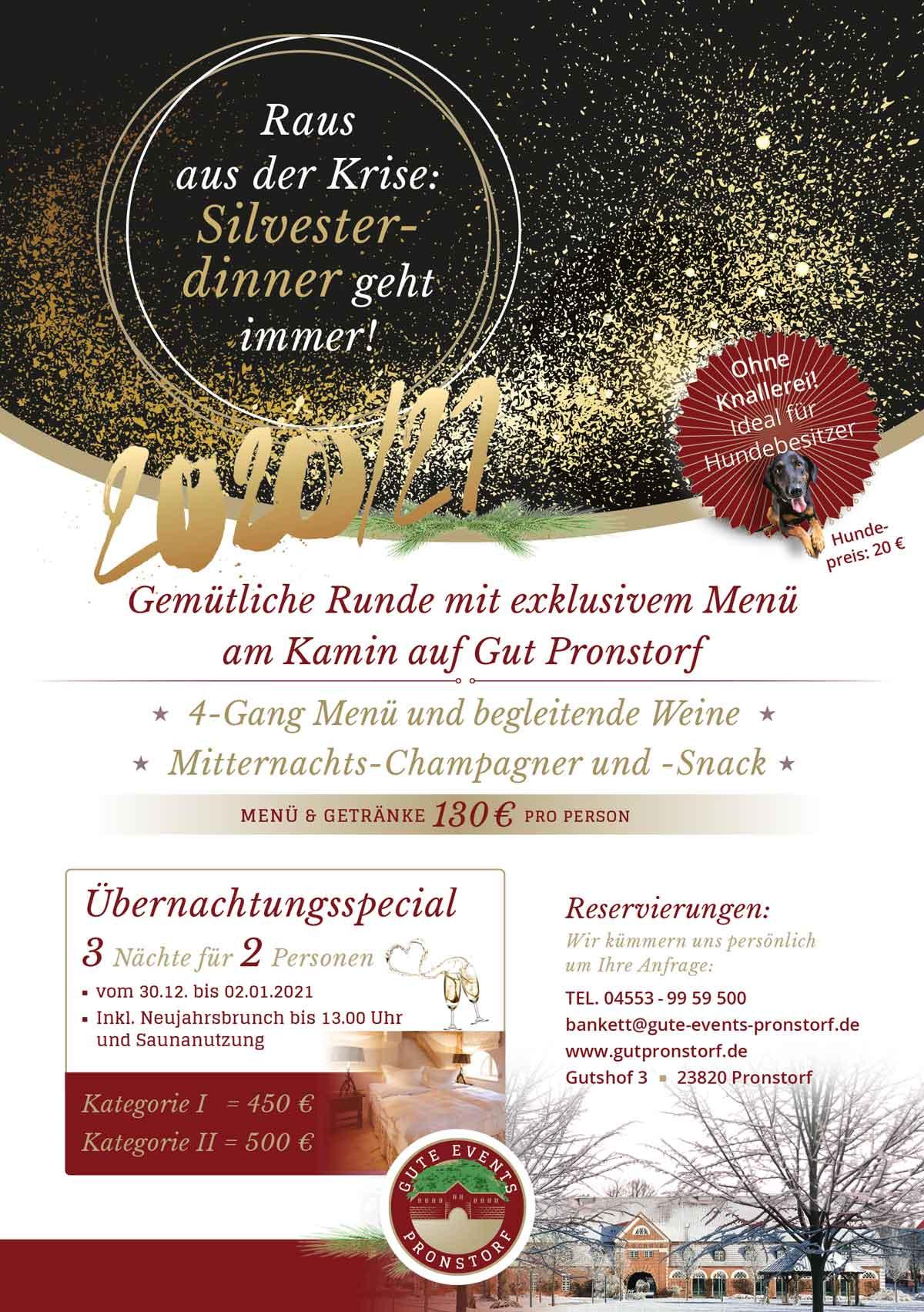 Silvestermenü Gut Pronstorf 2020